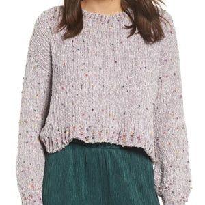 All In Favor Funfetti Chenille Sweater